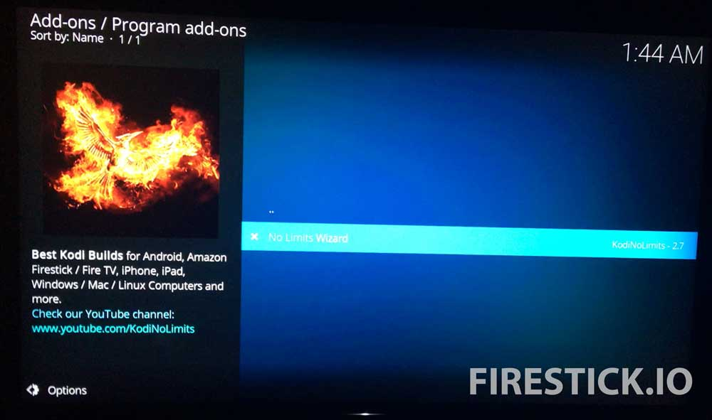 INSTALL KODI NO LIMITS MAGIC BUILD FOR FIRESTICK OR AMAZON FIRE TV: STEP 11