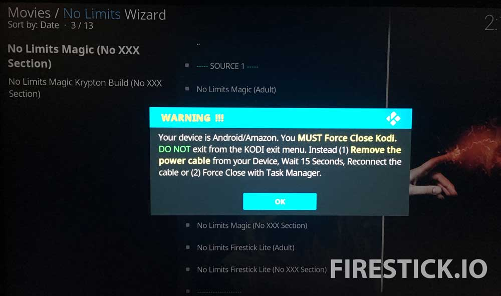 INSTALL KODI NO LIMITS MAGIC BUILD FOR FIRESTICK OR AMAZON FIRE TV: STEP 14