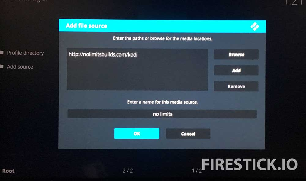 INSTALL KODI NO LIMITS MAGIC BUILD FOR FIRESTICK OR AMAZON FIRE TV: STEP 7
