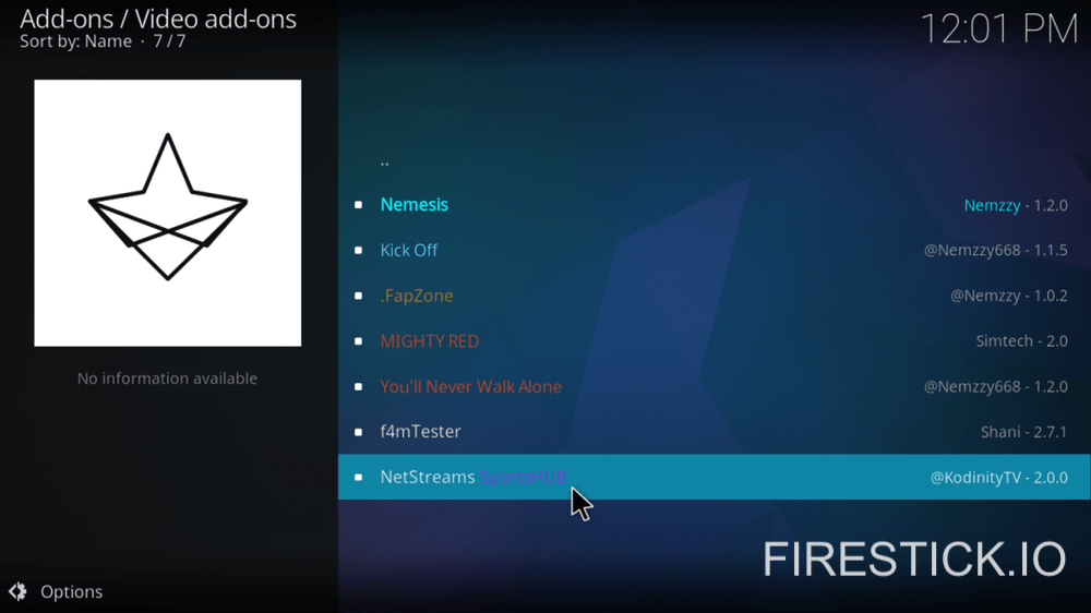 How to Install NetStreams SportsHub Add-on for Fire Stick